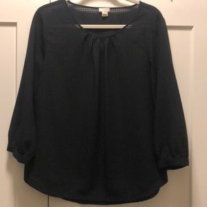 J Crew Black Long Sleeve Blouse